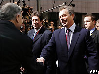 Tony Blair at EU summit