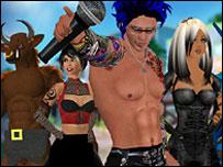 Second Life avatars