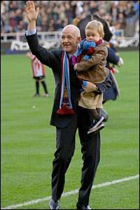 New West Ham United owner Eggert Magnusson waves to the crowds