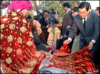Chinese President Hu Jintao during his visit to Lahore