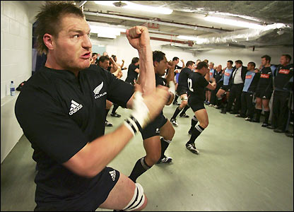 New Zealand's players do the haka