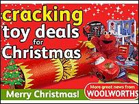 Woolworths online advert