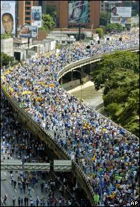 Cierre de campa�a opositora en Venezuela