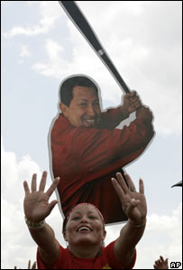 Acto de campa�a electoral de Hugo Ch�vez