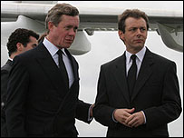Alex Jennings and Michael Sheen in The Queen