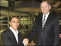 Lewis Hamilton and McLaren boss Ron Dennis