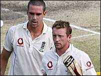 Kevin Pietersen and Paul Collingwood shared a century stand
