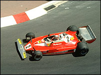 Clay Regazzoni in the Ferrari 312T at Monaco in 1970