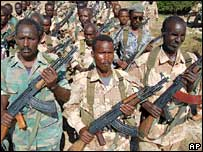 Somali government troops