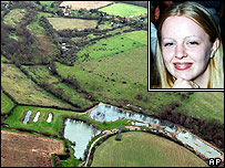 Aerial image of pool near Hintlesham