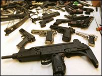 Guns seized by Gtr Manchester Police
