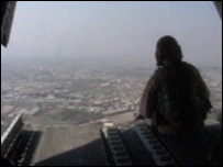 Sitting guard - from the back of a Chinook