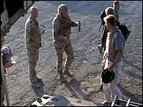 Talking to German troops, who aren't much enjoying Afghanistan