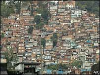 A slum, or favela, in Rio de Janeiro