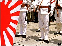 Veterans of Japan's imperial navy at a remembrance ceremony in Tokyo