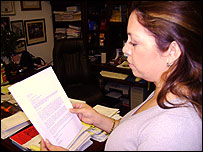 Nora S�ndigo, directora de American Fraternity