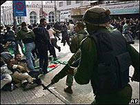 Manifestantes de Hamas en Gaza