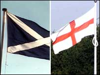 Saltire and St George's Flag
