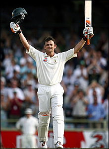 Adam Gilchrist hit four sixes and 12 fours in his 102 not out