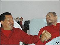 Ch�vez visit� a Castro el 13 de agosto de 2006.