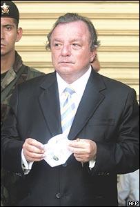 �lvaro  Noboa, candidato a la presidencia de Ecuador.