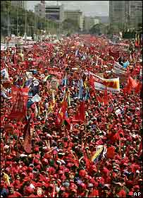 Rally for Hugo Chavez