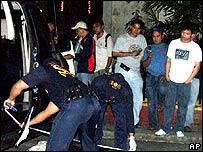 Police at scene of Bersamin shooting