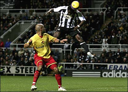 Obafemi Martins heads Newcastle in front