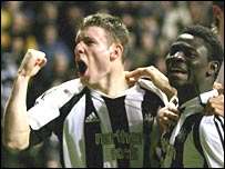 James Milner and Obafemi Martins