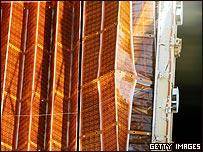 Panel solar defectuoso