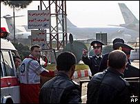 Ambulance arrives at Mehrabad airport