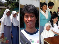 Pupils from Indonesian schools