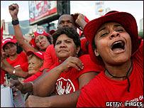 Simpatizantes de Hugo Ch�vez