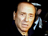 Silvio Berlusconi leaves his home to travel to hospital in Milan on Sunday