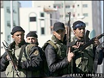 Palestinian presidential security guards