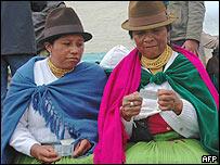 Mujeres indígenas ecuatorianas
