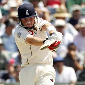 Ian Bell hits a four