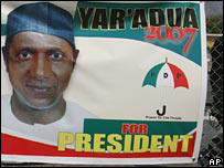 Yar'Adua election poster