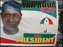 Yar'Adua election poster