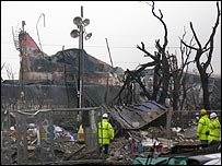 Aftermath of Buncefield fire