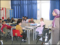 Class learning at Arab Association School, London, UK