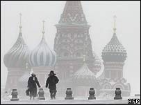 Red Square in Moscow (January 2006)