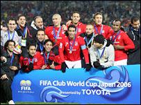Al Ahly celebrate third spot at the Club World Championship