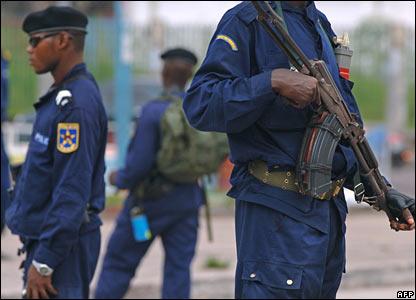 Two policemen in Kinshasa