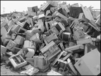 Computers on a landfill