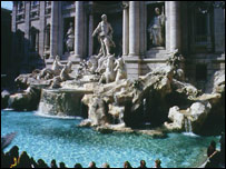 Rome's Trevi fountain (archive image)
