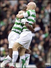 Thomas Gravesen (right) gave Celtic the lead