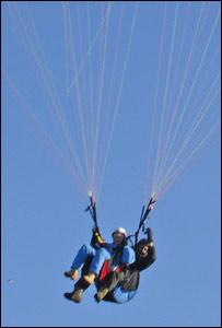 Reg Rose-Innes paragliding
