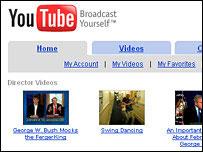 Screengrab of YouTube homepage, BBC
