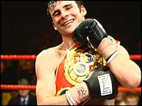 Joe Calzaghe with the IBF belt